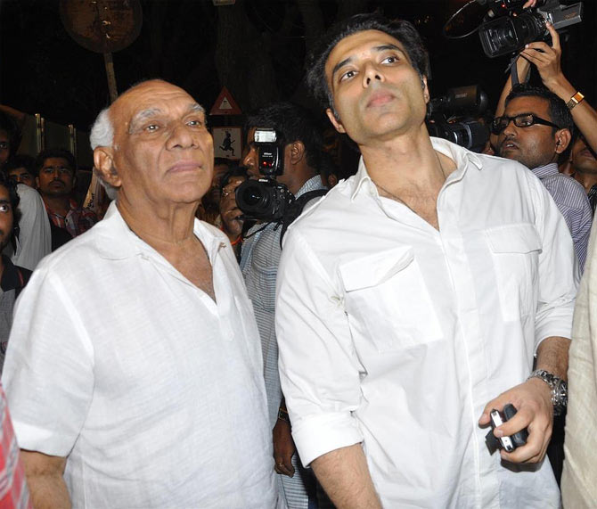 Uday Chopra with his father Yash Chopra