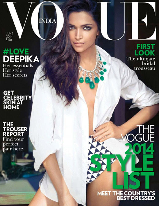 Deepika Padukone on the cover of Vogue magazine
