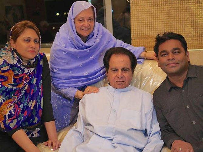 Dilip Kumar and A R Rahman with their wives