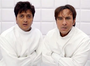 Riteish Deshmukh and Saif Ali Khan in Humshakals
