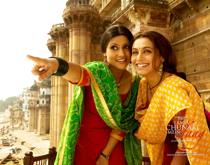 Konkona Sen Sharma and Rani Mukerji in Lagaa Chunari Main Daag