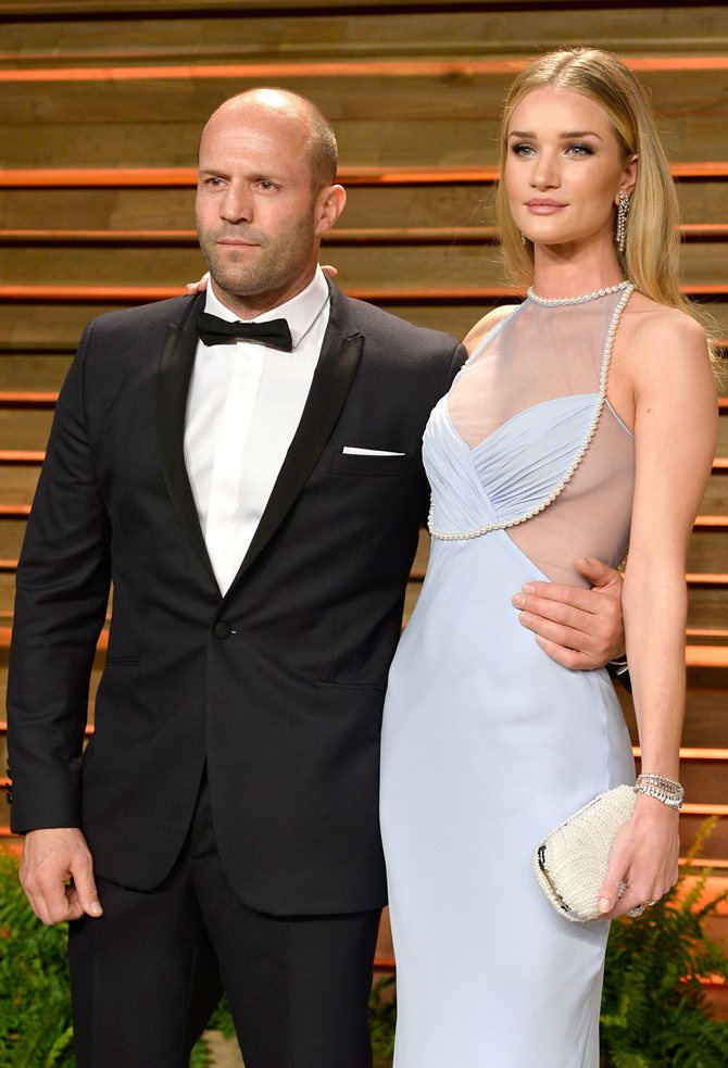 Jason Stathom and Rosie Huntington-Whiteley