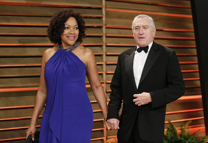 Robert De Niro with wife Grace Hightower