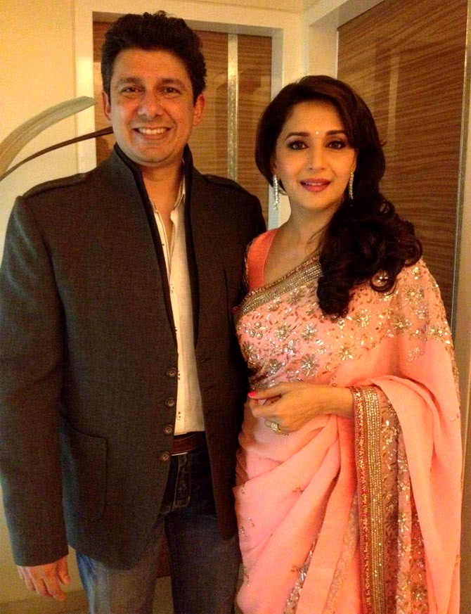 Madhuri Dixit with husband Dr Sriram Nene