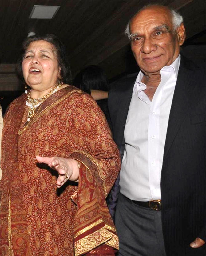 Pamela and Yash Chopra