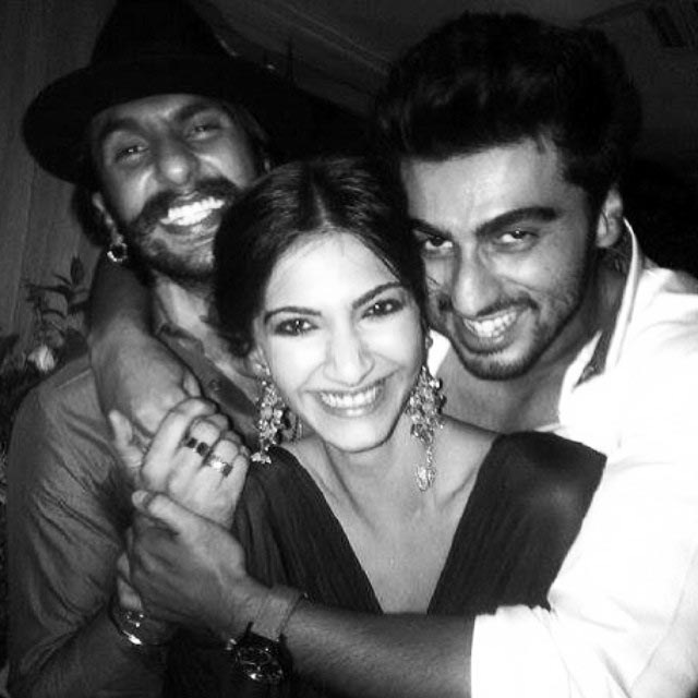 Sonam Kapoor with Arjun Kapoor and Ranveer Singh