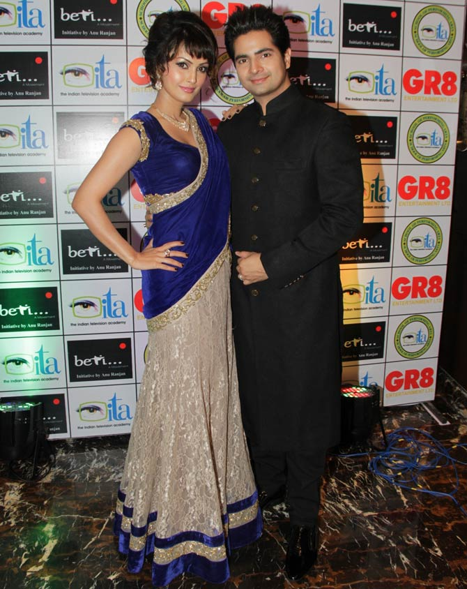 Nisha Rawal and Karan Mehra