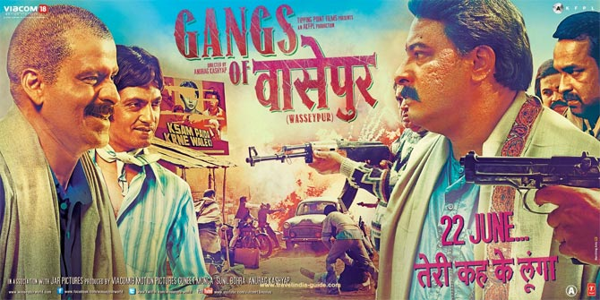 Movie poster of Gangs of Wasseypur