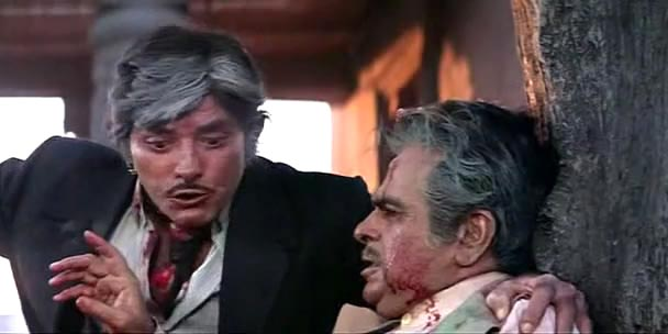 Raaj Kumar and Dilip Kumar in Saudagar
