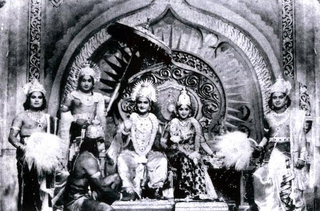 A scene from Sampoorna Ramayanam