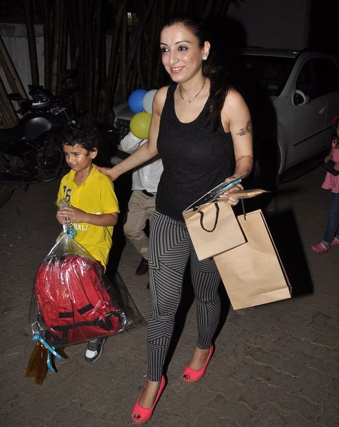 Madhurima with son Nevaan