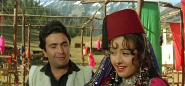 Rishi Kapoor and Zeba Bakhtiar in Heena