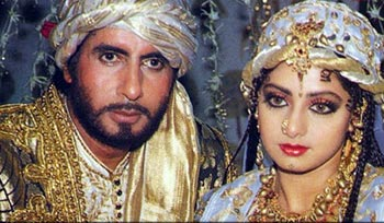 Amitabh Bachchan and Sridevi in Khuda Gawah