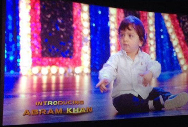 image abram khan make a cute debut