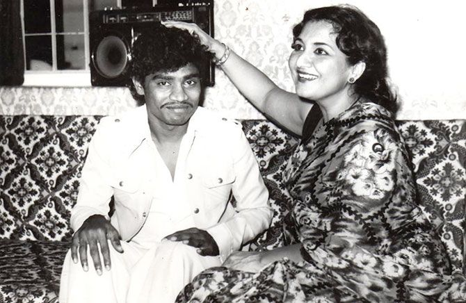 Tabassum and Johnny Lever
