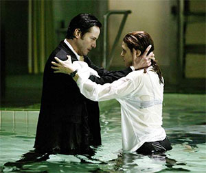 Keanu Reeves and Rachael Weisz in Constantine