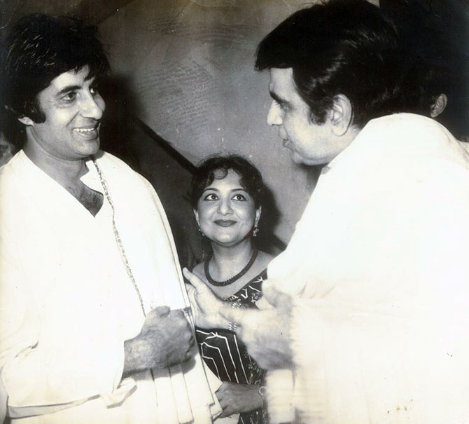 Tabassum with Amitabh Bachchan and Dilip Kumar