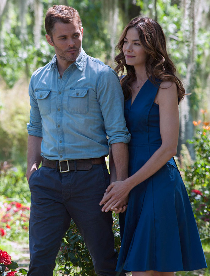 James Marsden, Michelle Monaghan in Best of Me