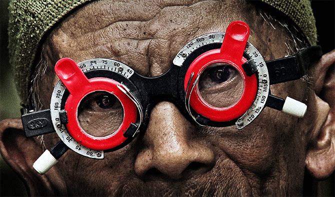 A scene from the documentary  The Look of Silence