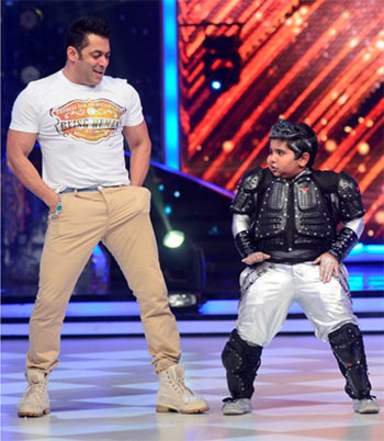 Salman Khan with Akshat Singh