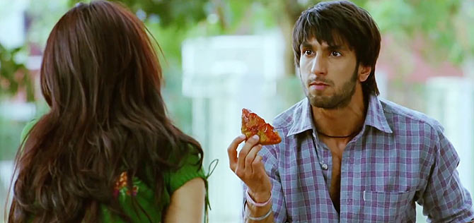 Anushka Sharma and Ranveer Singh in Band Baaja Baarat