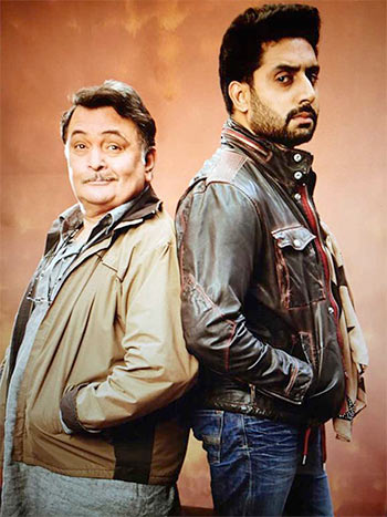 Rishi Kapoor and Abhishek Bachchan in All Is Well