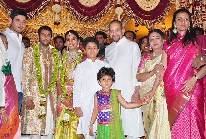 Pix A Wedding In Mahesh Babus Family Rediffcom Movies