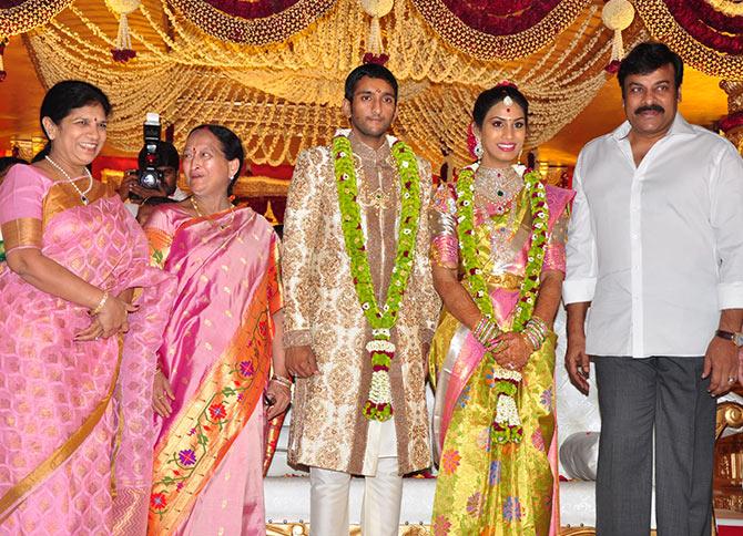 Pix: A wedding in Mahesh Babu's family - Rediff com movies