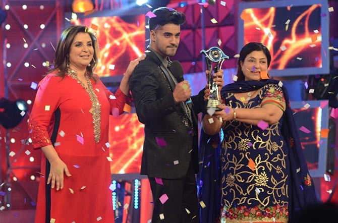Farah Khan with Gautam Gulati and his mother