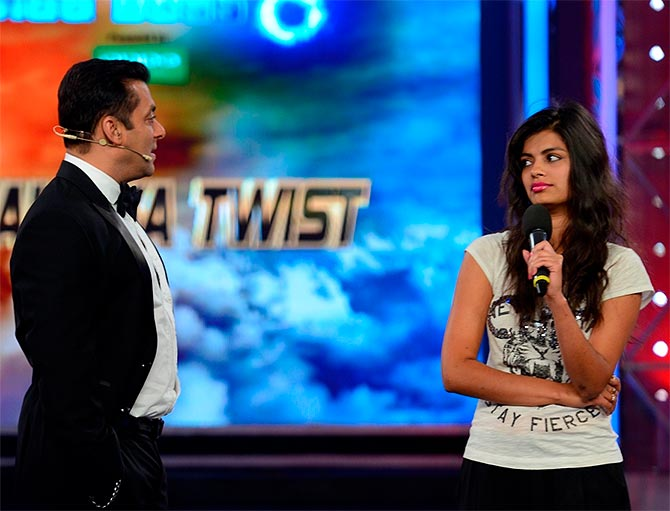Salman Khan and Sonali Raut
