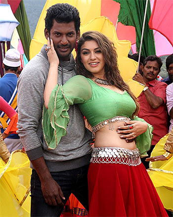 Vishal and Hansika Motwani in Aambala