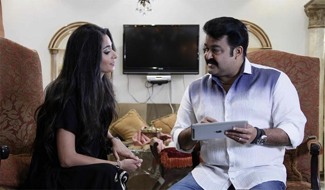 Varuna Shetty and Mohanlal in Rasam