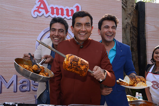 Chef Ranveer Brar, Chef Sanjeev Kapoor and Chef Vikas Khanna