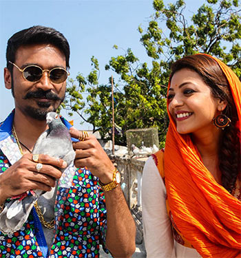 Dhanush and Kaajal Agarwal in Maari