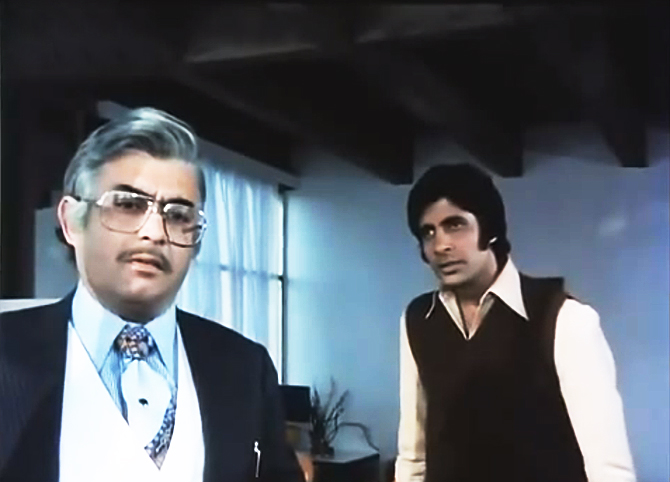 Sanjeev Kumar and Amitabh Bachchan in Trishul.