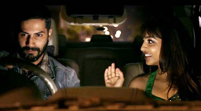 Varun Dhawan and Radhika Apte in Badlapur