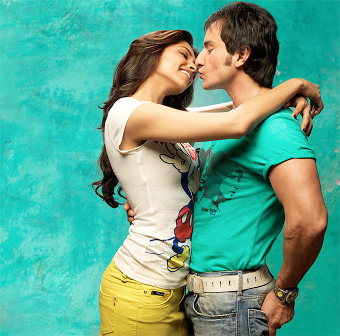 Deepika Padukone and Saif Ali Khan in Love Aaj Kal