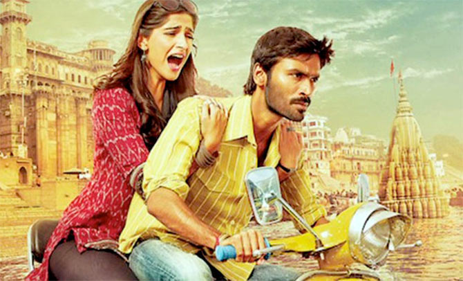 Sonam Kapoor and Dhanush in Raanjhanna