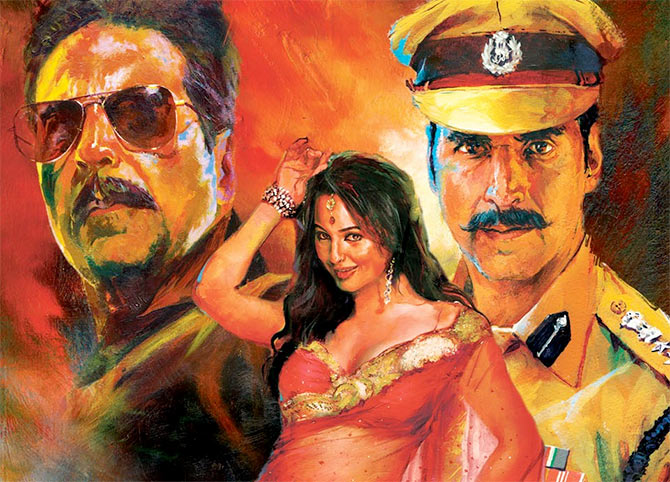 Movie poster of Rowdy Rathore