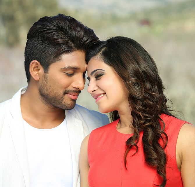 Allu Arjun and Samantha Ruth Prabhu in S/O Satyamurthy