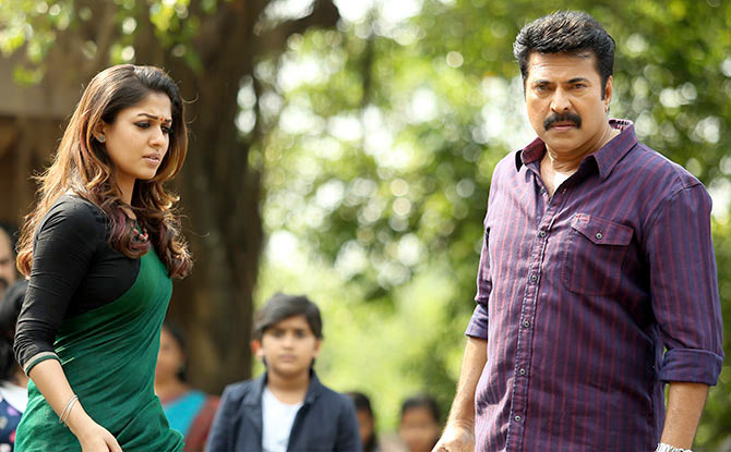Mammootty and Nayantara in Bhaskar the Rascal