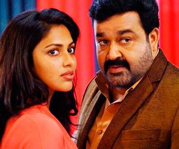 Amala Paul and Mohan Lal in Laila O Laila