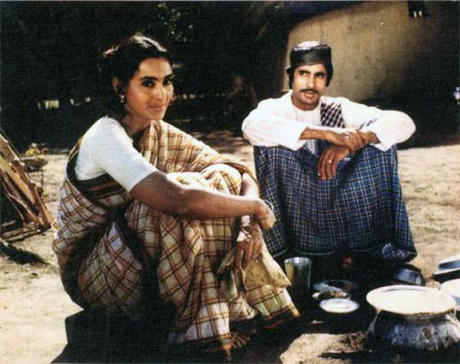 Nutan and Amitabh Bachchan