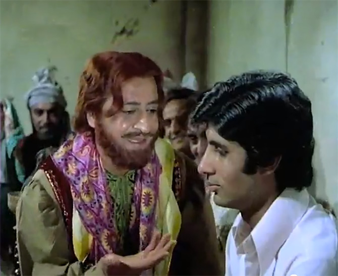 Pran and Amitabh Bachchan in Zanjeer