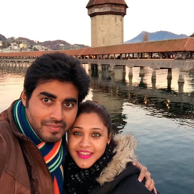 PIX: TV actors Yash, Amrapali visit Paris - Rediff com movies