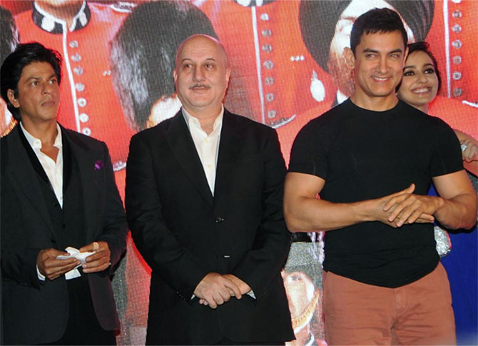 What Anupam Kher thinks of SRK and Aamir