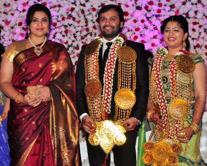 PIX: Sridevi, Chiranjeevi attend Jaya Prada's son's reception