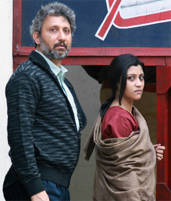 Konkona Sensharma and Neeraj Kabi in a scene from Talvar.