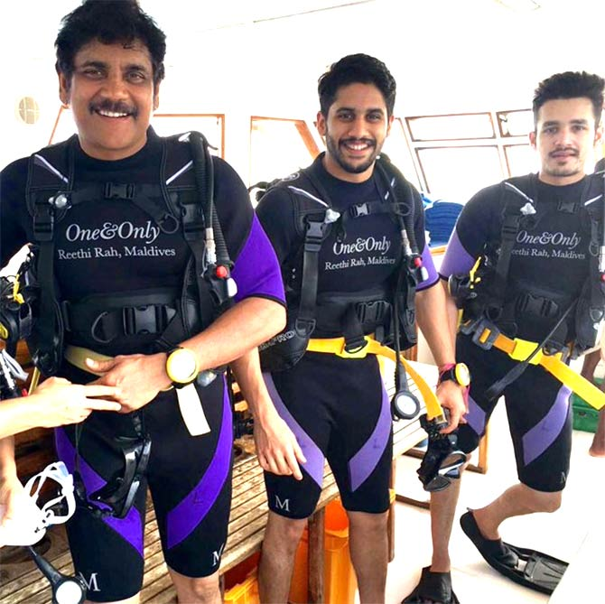 Nagarjuna with sons