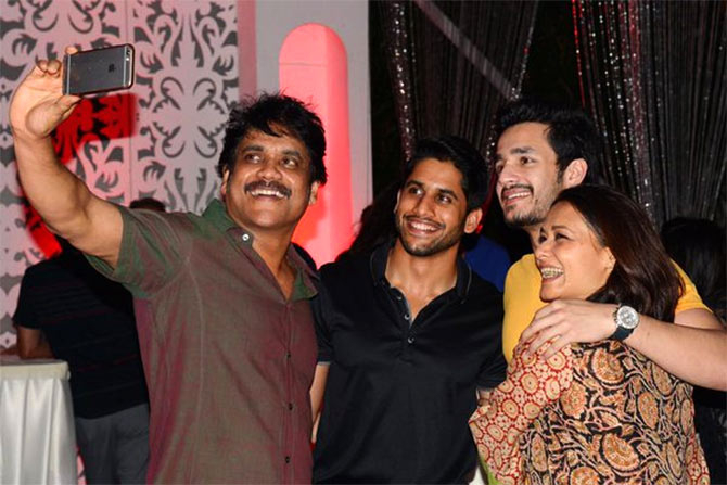 Nagarjuna with family